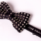 Jose Bravo leather spikes bow tie