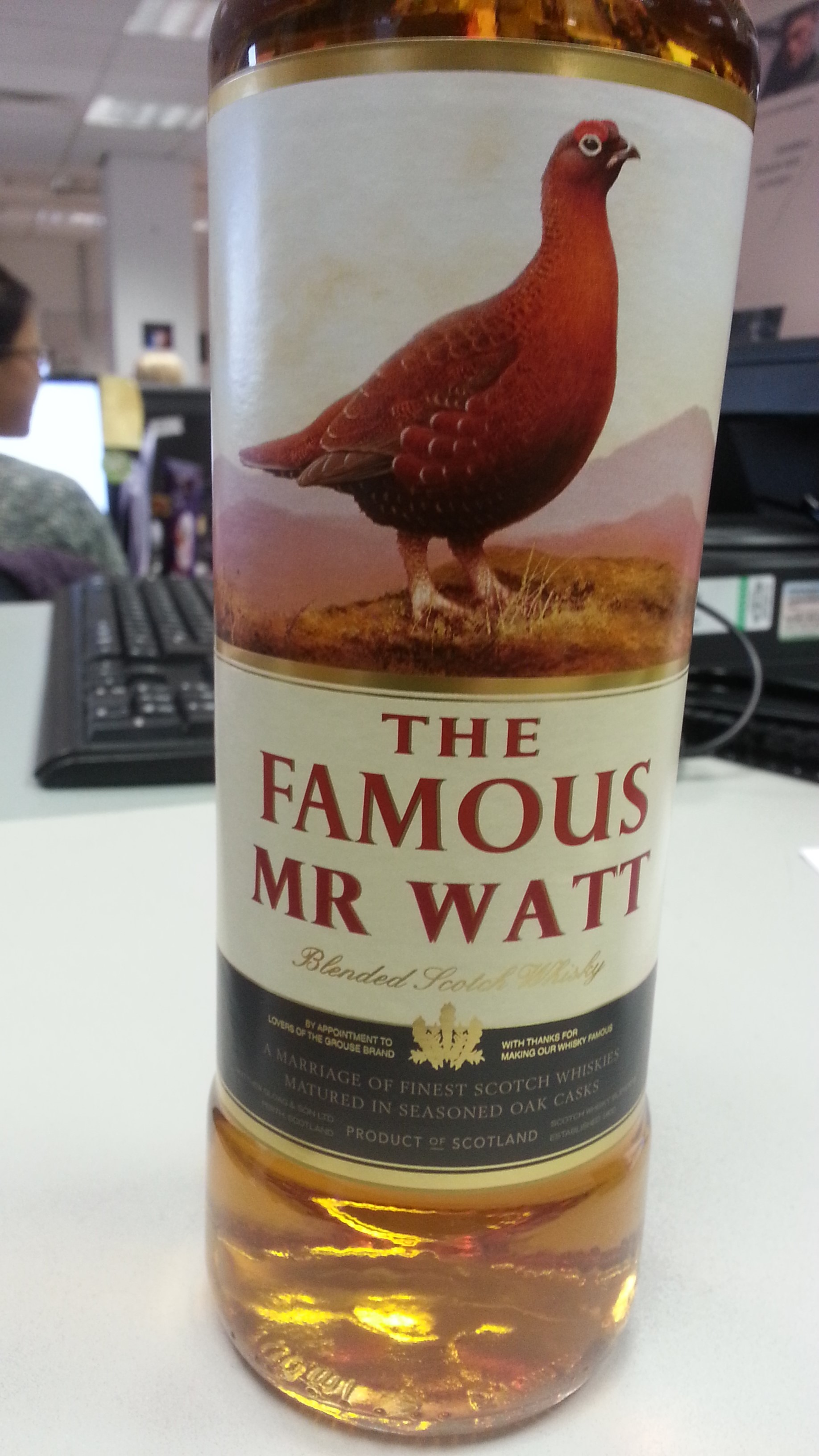 famous with your own personalised whisky label from the famous grouse