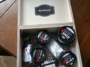 LUSH MEN box inside