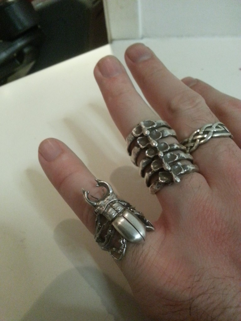 Yasmin Everley silver stag beetle ring