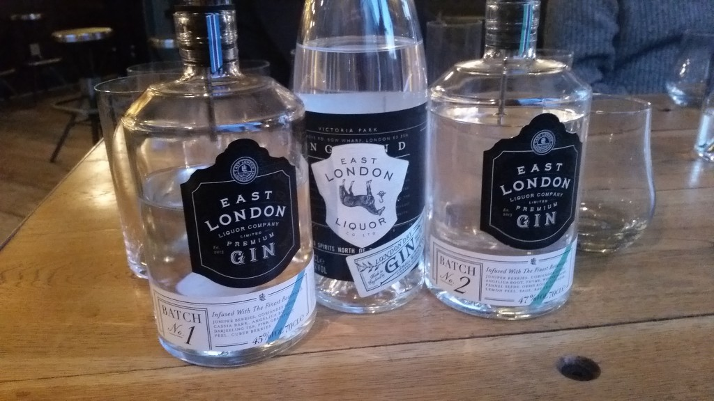 East London Liquor Company gin tasting