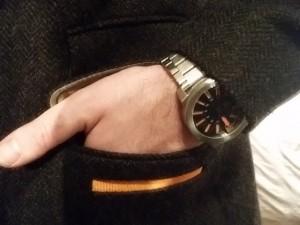 Boss Orange watch and Superdry Coat