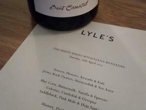 Lyle's Shoreditch Menu