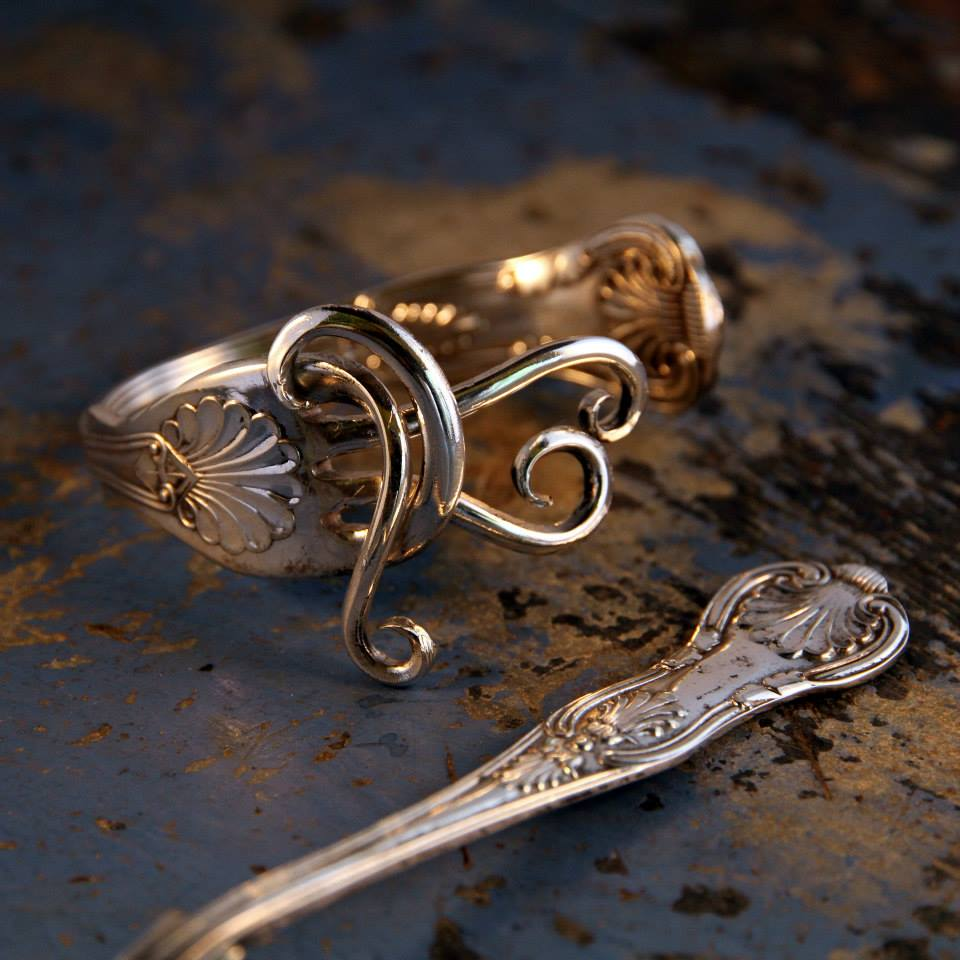 Recycled jewellery fork