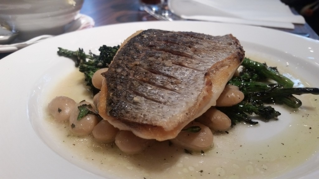 Fish and broad beans