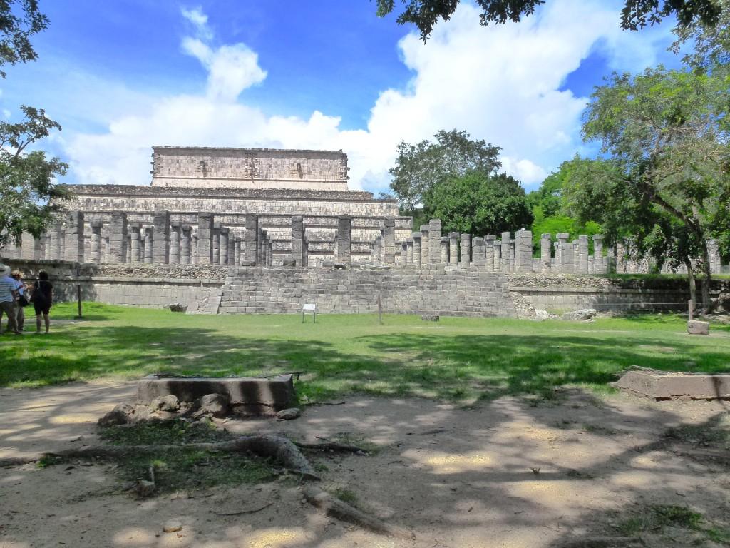 Chichen Itza garden temple