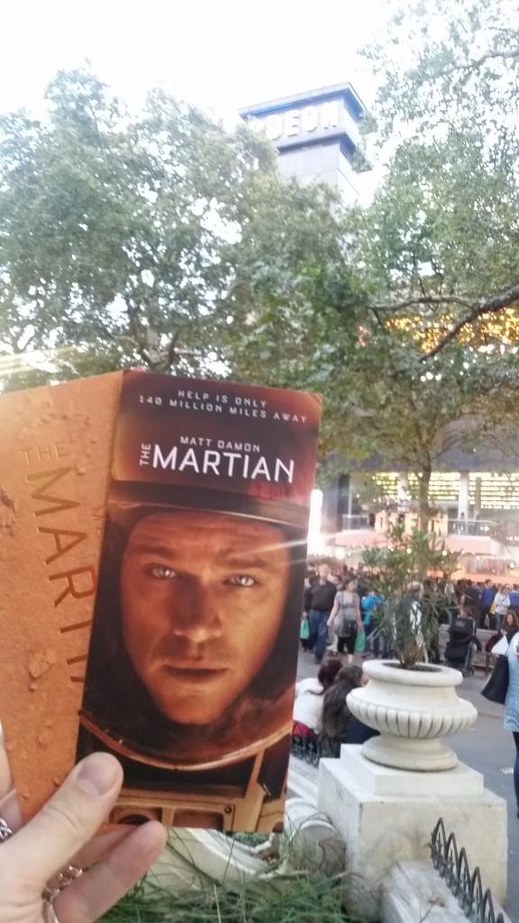 The Martian Movie Premier tickets Callum Watt