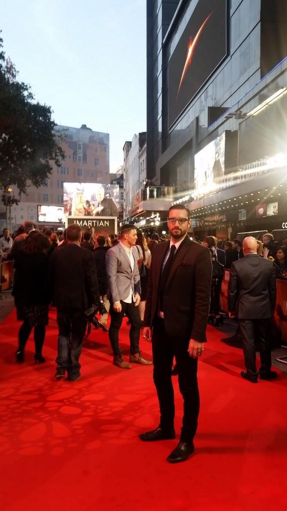 The Martian Movie Premier Callum Watt red carpet