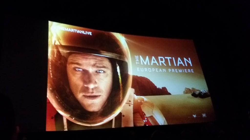 The Martian Movie Premier Callum Watt cinema