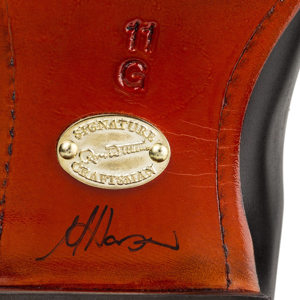 RM Williams Signature Craftman is signed by the craftman that makes it