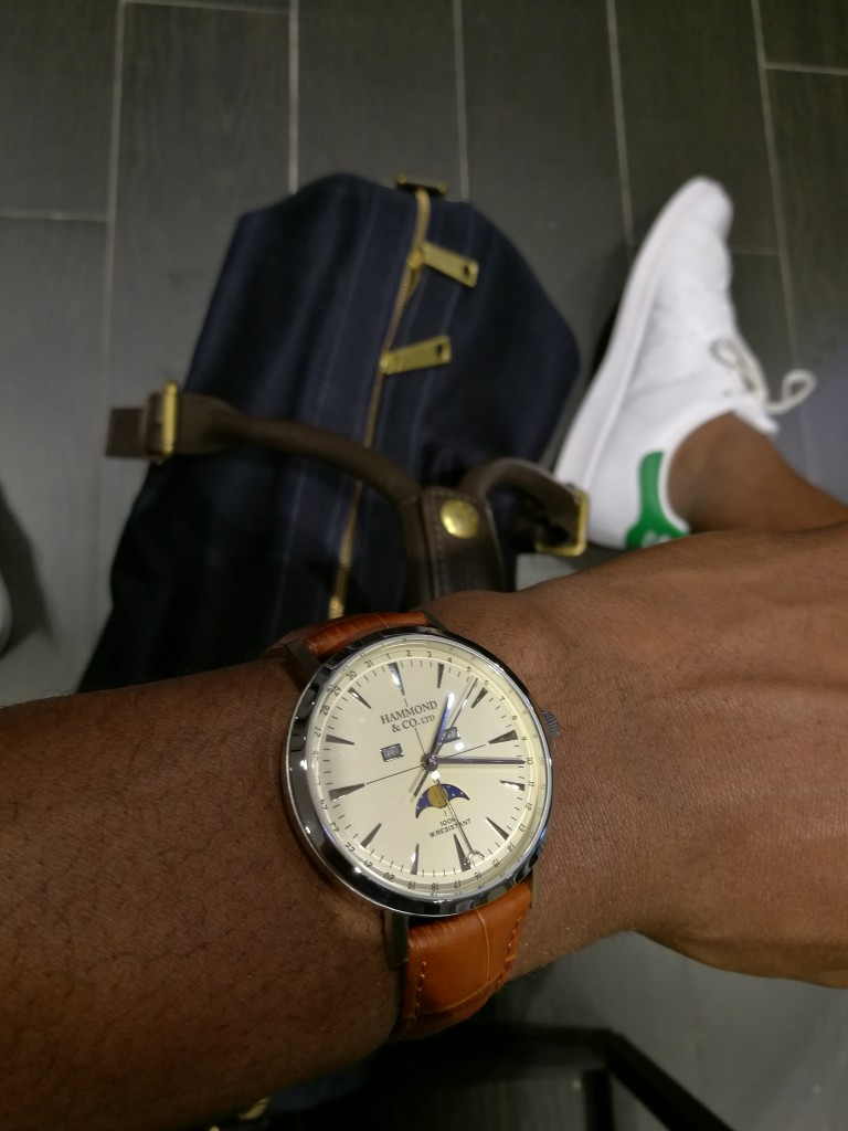 Hammond & Co. by Patrick Grant Men's watch with tan leather strap
