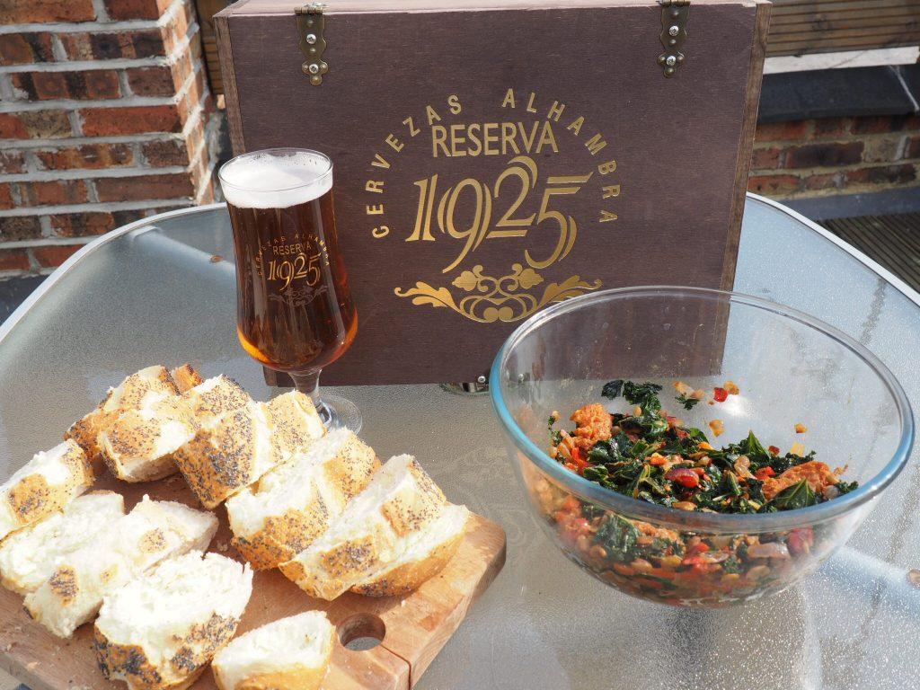 Chorizo Salad served with Alhambra Reserva 1925