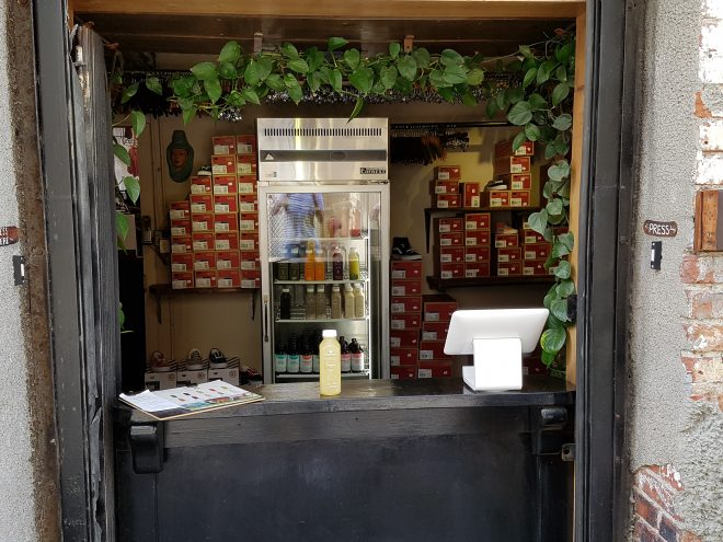 Clover Cold Pressed Juice shop LA
