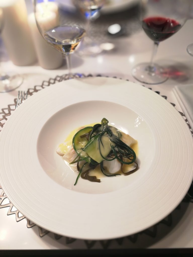 Maketh-the-Man-Anton-Welcome-Miele-Perfection-Series-Steamed-cod-with-seaweed-cucumber-and-beurre-blanc