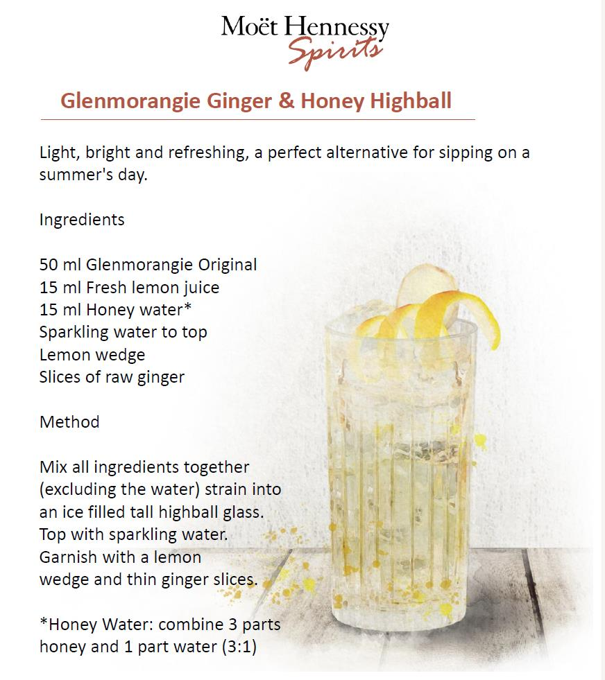 Glenmorangie Ginger Honey Highball