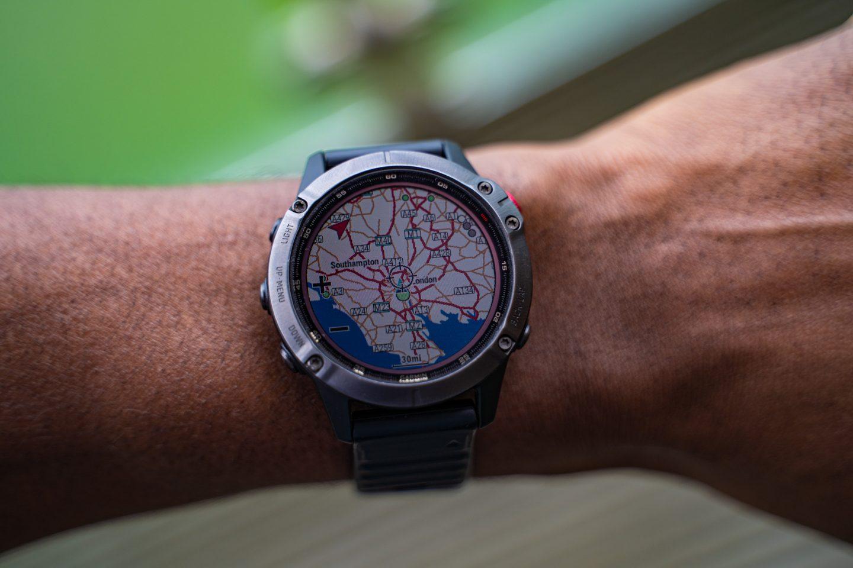 Fenix 6 Pro Solar - GPS Map display