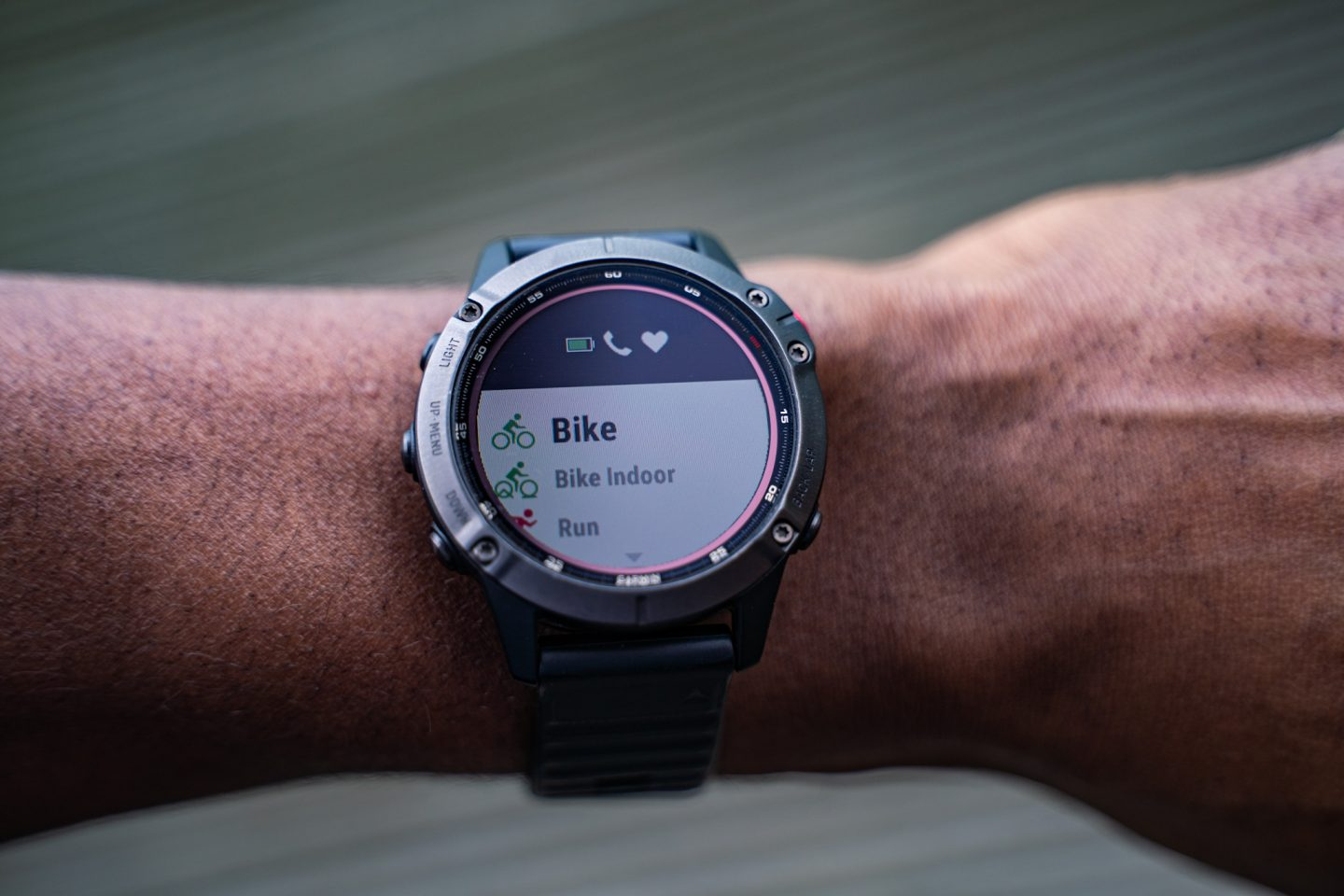 The Fenix 6 Pro Solar fitness tracking options