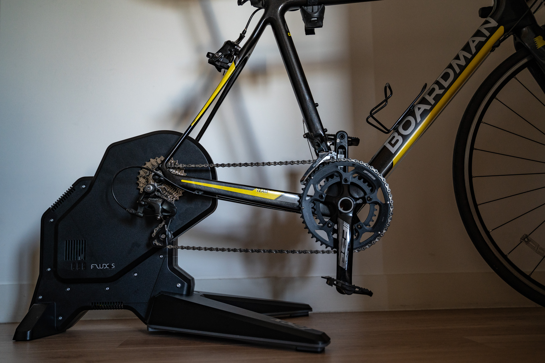 Tacx Flux S - on bike